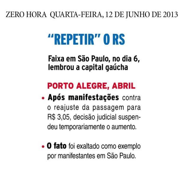 Porto Alegre faz escola...