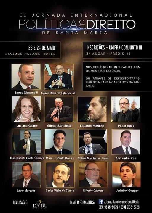 II Jornada Internacional Política e Direito de Santa Maria