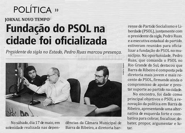 PSOL na Barra  do Ribeiro